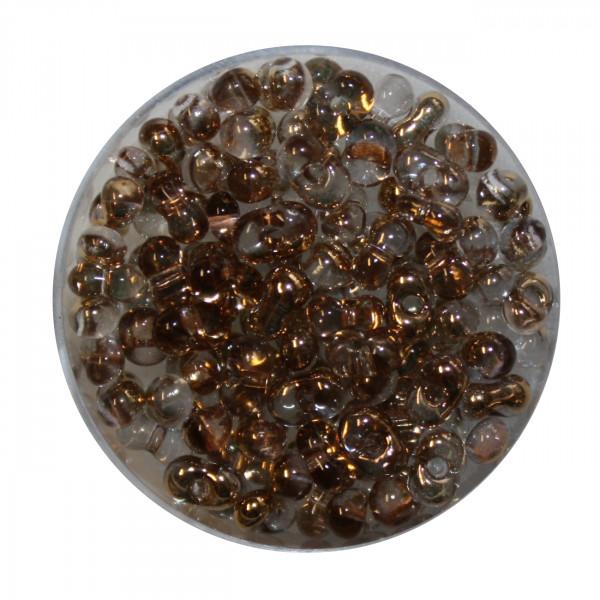 Farfalle, Metallic, 6,5mm, 10gr Dose, echt gold-kristall