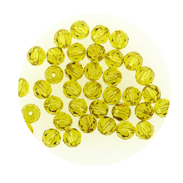 Swarovski Glasperlen, 4 mm, 5 Stück, lime