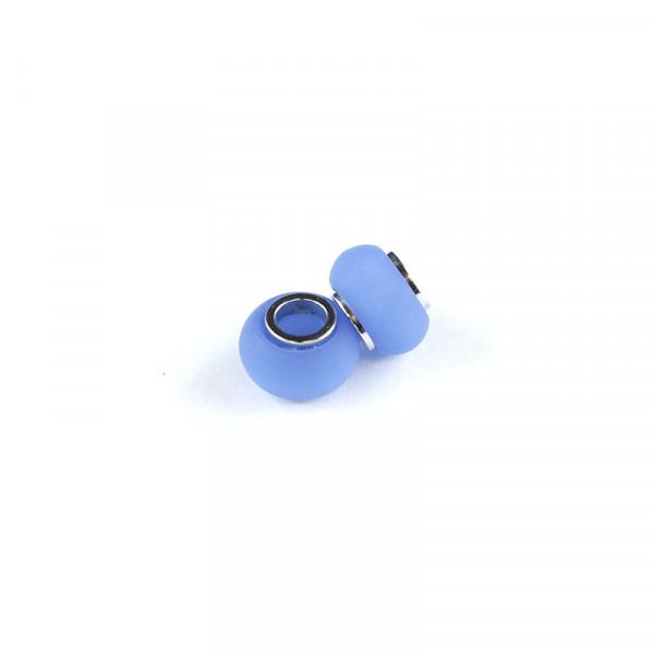 Polaris Großlochperlen matt, 8x12mm, blau