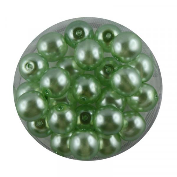 Crystal Pearl Renaissance, 8mm, 25 Stück, hellgrün