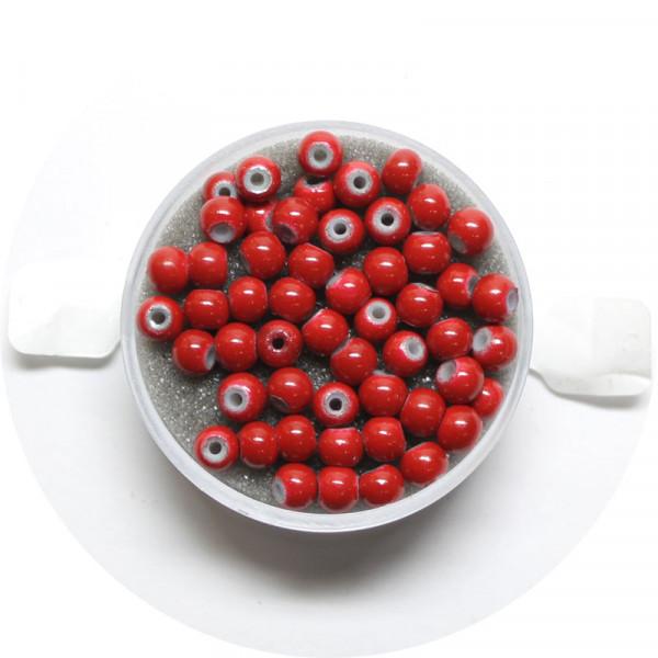 Miracle-Beads Glasperlen, 50 Stck., 4mm, rot