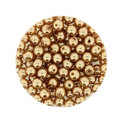 Pearl Renaissance, 4mm, 100 Stück, braun