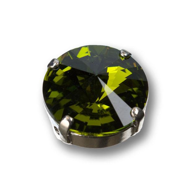 Swarovski Rivoli, 14 mm, oliv