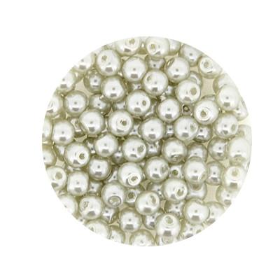 Pearl Renaissance, 4mm, 100 Stück, hellgrau