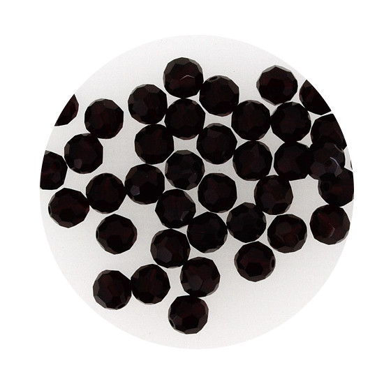 Swarovski Glasperlen, 6 mm, 5 Stück,schwarz jet