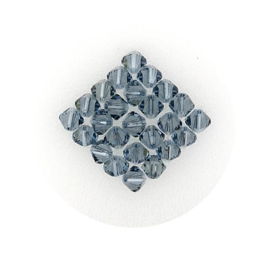 Swarovski Doppelkegel, 4 mm, 25 Stück,indian sapphire