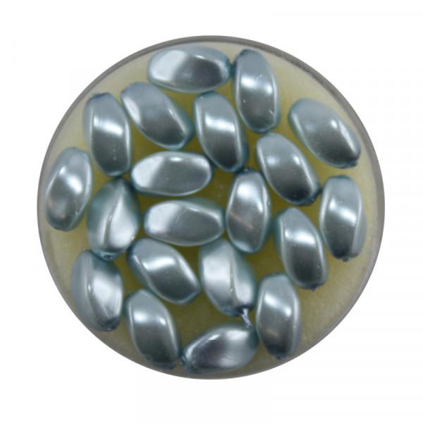 Pearl Renaissance, 9x6mm, 20 Stück, eisblau