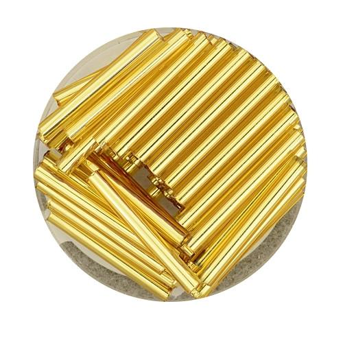 Glasstift, Silbereinzug, 19 mm, 17gr. Dose, goldfarben