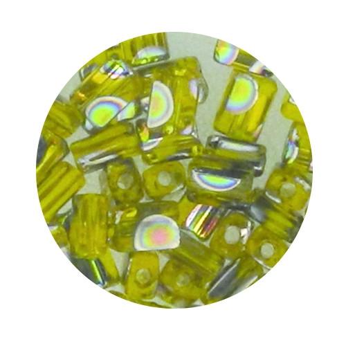 Glasperle, Rechteck, 5 mm, 7gr. Dose, gelb