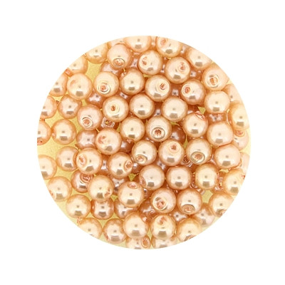 Pearl Renaissance, 4mm, 100 Stück, apricot