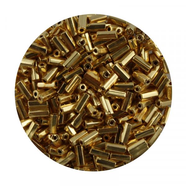 Glasstift, echt vergoldet, 4 mm, 10gr. Dose, gold
