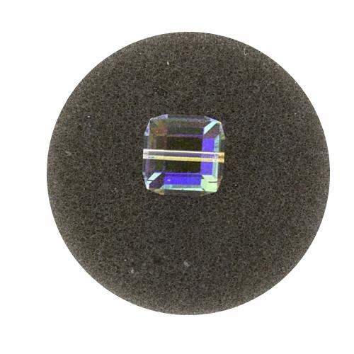 Swarovski Würfel, quer gestochen, 10mm, crystal AB