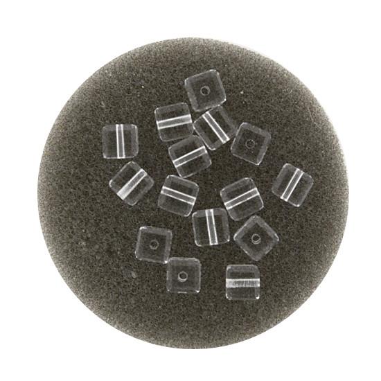 Swarovski Würfel, quer gestochen, 4mm,3 St., crystal