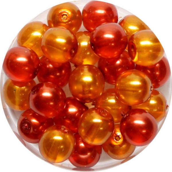 Crystal Pearl Renaissance, 8mm, 25 Stück, orange-ton