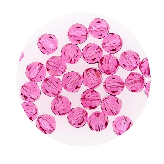 Swarovski Glasperlen, 4 mm, 5 Stück, rose