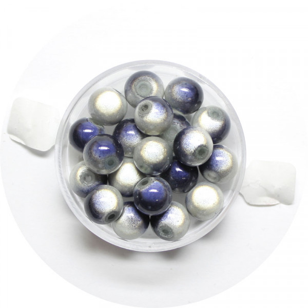 Miracle-Beads Glasperlen, 20 Stck., 8mm, grau
