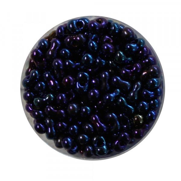Farfalle, Silbereinzug, 6,5mm, 17gr Dose, blau iris