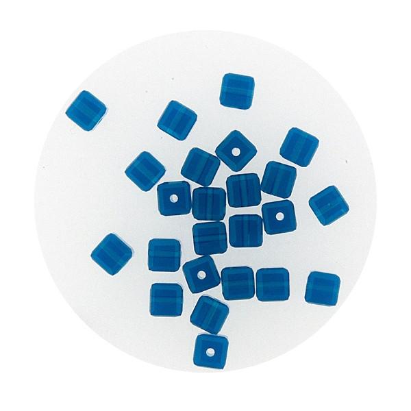 Swarovski Würfel, quer gestochen, 4mm,caribbean blue opal