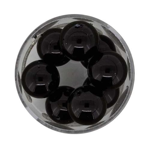 Pearl Renaissance, 14mm, 8 Stück, schwarz