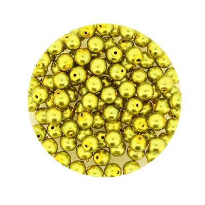 Pearl Renaissance, 4mm, 100 Stück, oliv