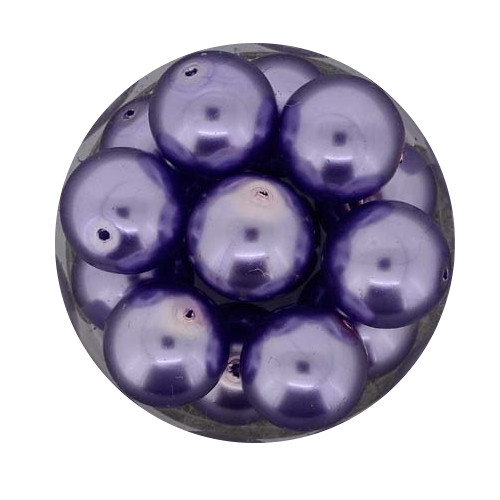 Pearl Renaissance, 12mm, 14 Stück, lila