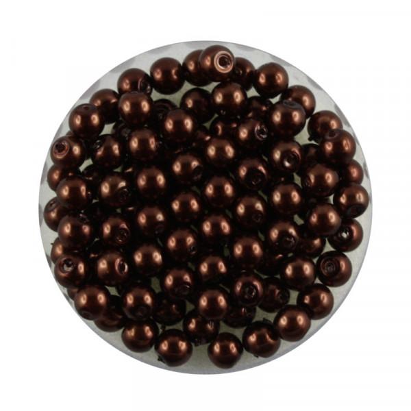 Pearl Renaissance, 4mm, 100 Stück, schokobraun