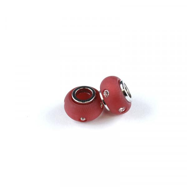 Polaris Strass Großlochperlen, 8x12mm, rot