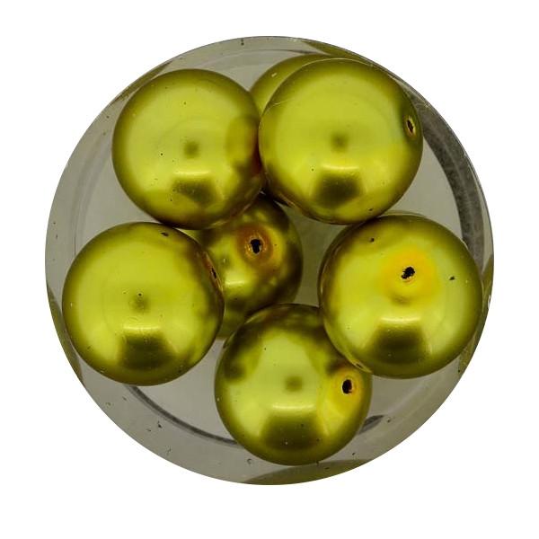 Pearl Renaissance, 14mm, 8 Stück, oliv