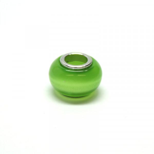Polaris Großlochperlen, 8x12mm, grün