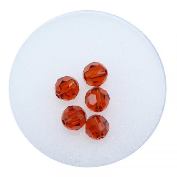 Swarovski Glasperlen, 6 mm, 5 Stück, indian red
