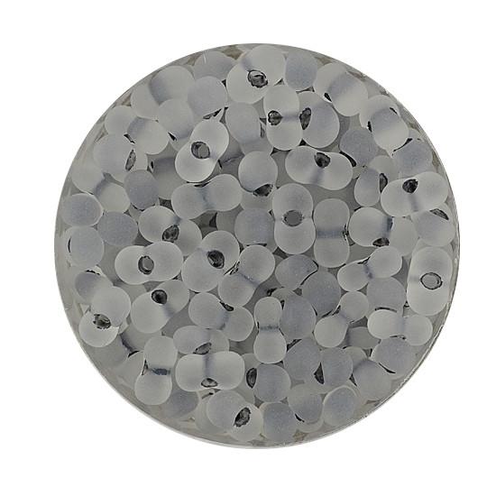 Farfalle, Farbeinzug matt, 6,5 mm, 17gr Dose, kristall-grau
