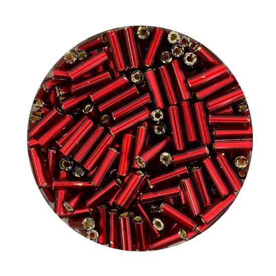 Glasstift, Silbereinzug, 6 mm, 17gr. Dose, rot