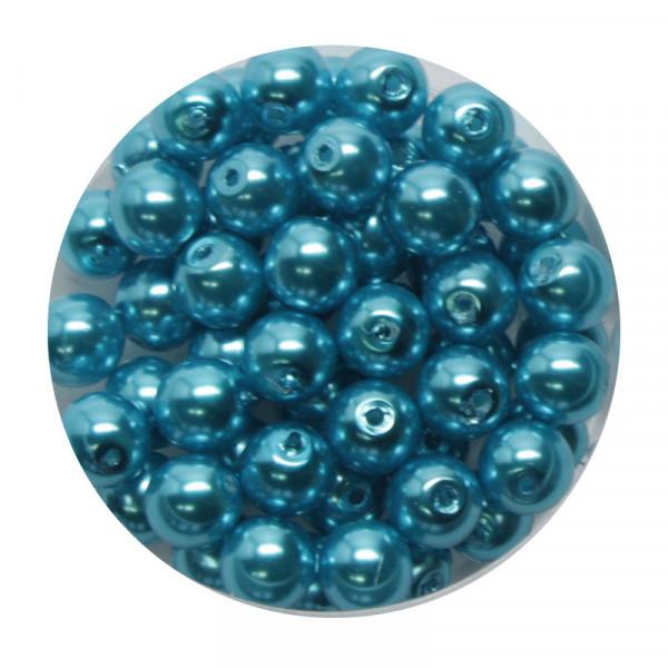 Pearl Renaissance, 6mm, 55 Stück, karibikblau