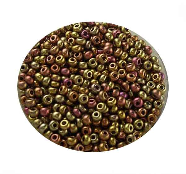 Rocailles, metallic-matt, 2,6mm, 17gr. Dose, Mix I