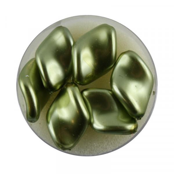 Pearl Renaissance, 19x13mm, 6 Stück, oliv