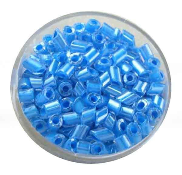 Glasperlen Cremette, glänzend, 4-6 mm, blau