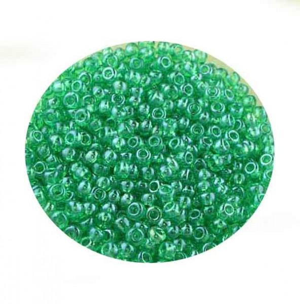 Rocailles, Rainbow AB-Effekt, 2,6mm, 17gr. Dose, grün