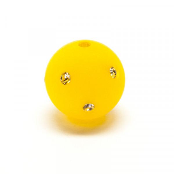 Polaris Strassperlen, 14mm, gelb