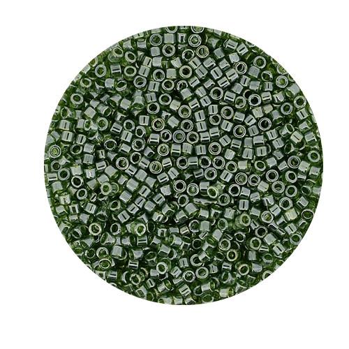 Miyuki Delicas, 11/0 (2,0mm), 9gr. Dose,silverlined oliv