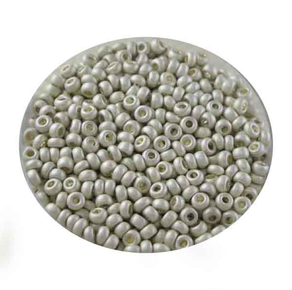 Metallicrocailles, matt, 2,6mm, 17gr. Dose, silberfb.