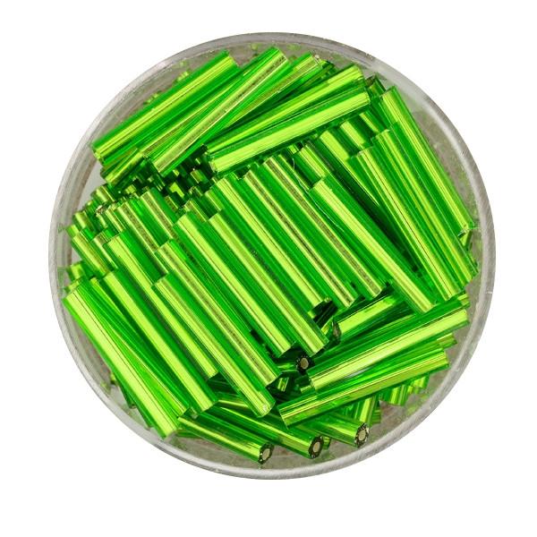 Glasstift, Silbereinzug, 15 mm, 17gr. Dose, grün