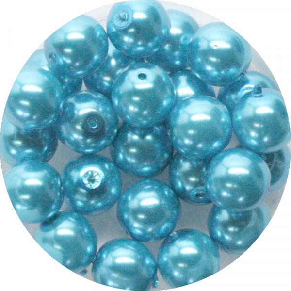 Pearl Renaissance, 8mm, 25 Stück, karibikblau