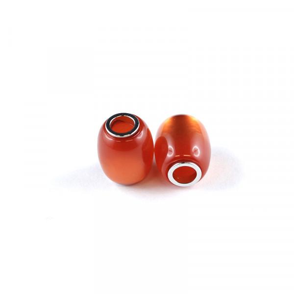 Polaris Großlochperlen, 15x12mm, orange