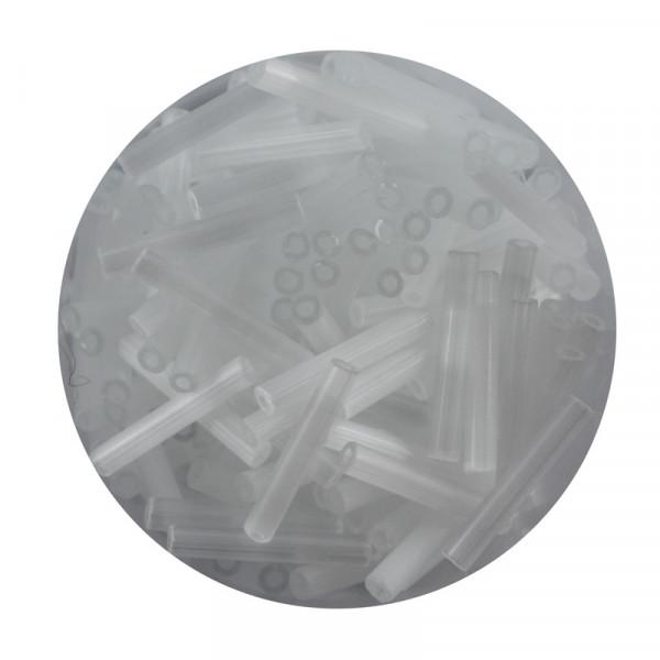 Glasstift, Silbereinzug, 15 mm, 17gr. Dose, weiß seide