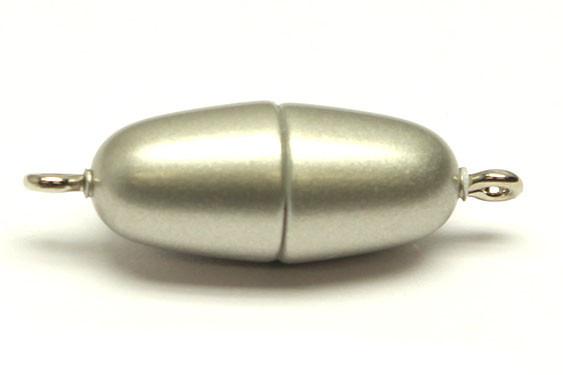 Power-Magnetverschluss, 21x9 mm, edelstahl matt