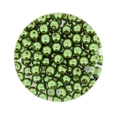 Pearl Renaissance, 4mm, 100 Stück, dunkelgrün