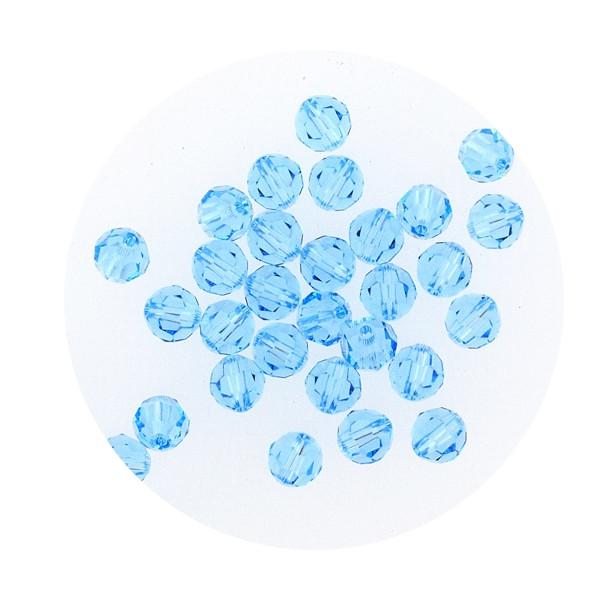 Swarovski Glasperlen, 6 mm, 5 Stück, aqua