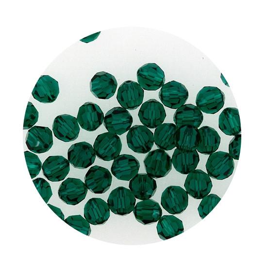 Swarovski Glasperlen, 4 mm, 5 Stück, emerald