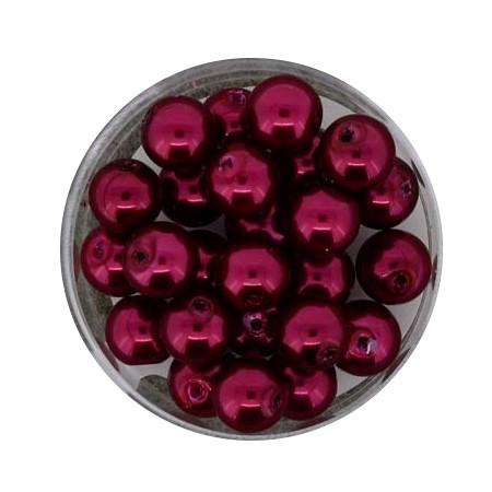 Pearl Renaissance, 8mm, 25 Stück, rot