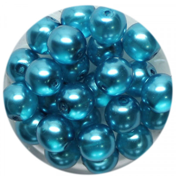 Crystal Pearl Renaissance, 8mm, 25 Stück, türkis